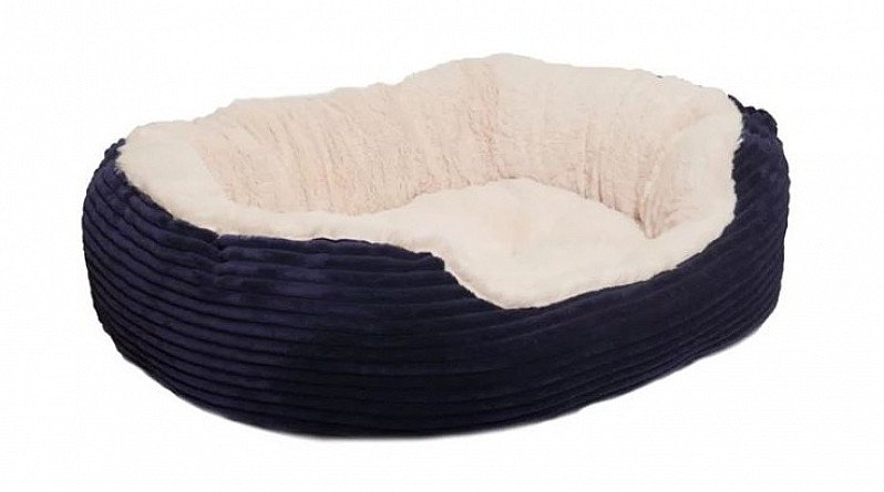 SAVE 25% OFF this Rosewood Dog Bed Cord Plush Pet Bed 32in!
