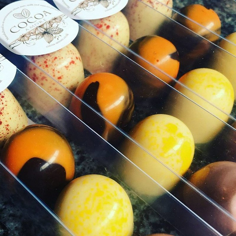 We've been conjuring up more chocolate magic here at Cocoa Amore & have created our new fruit domes!