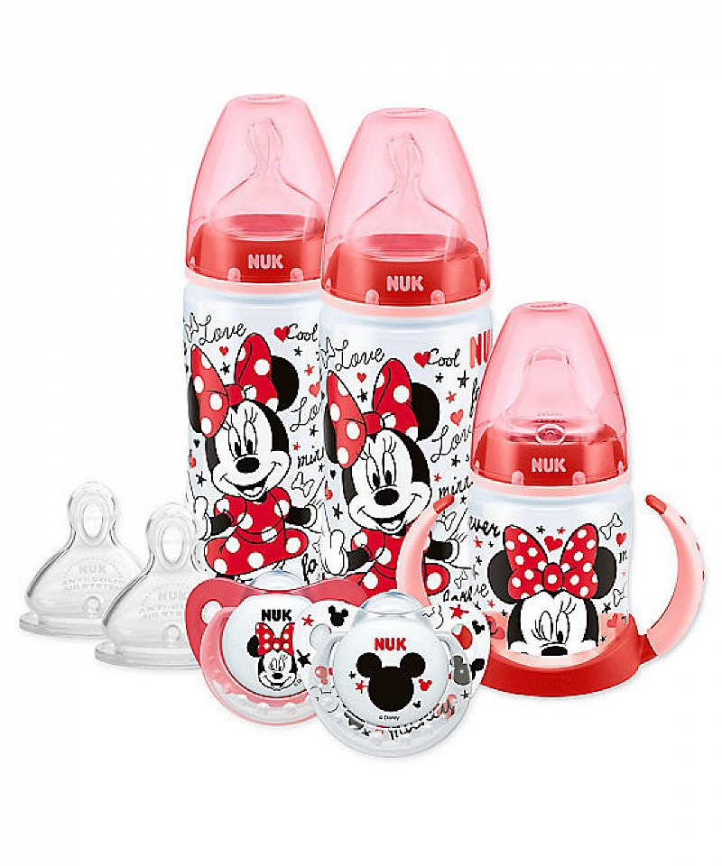 1/2 PRICE - NUK Disney Minnie Mouse bottle, cup and soother set!