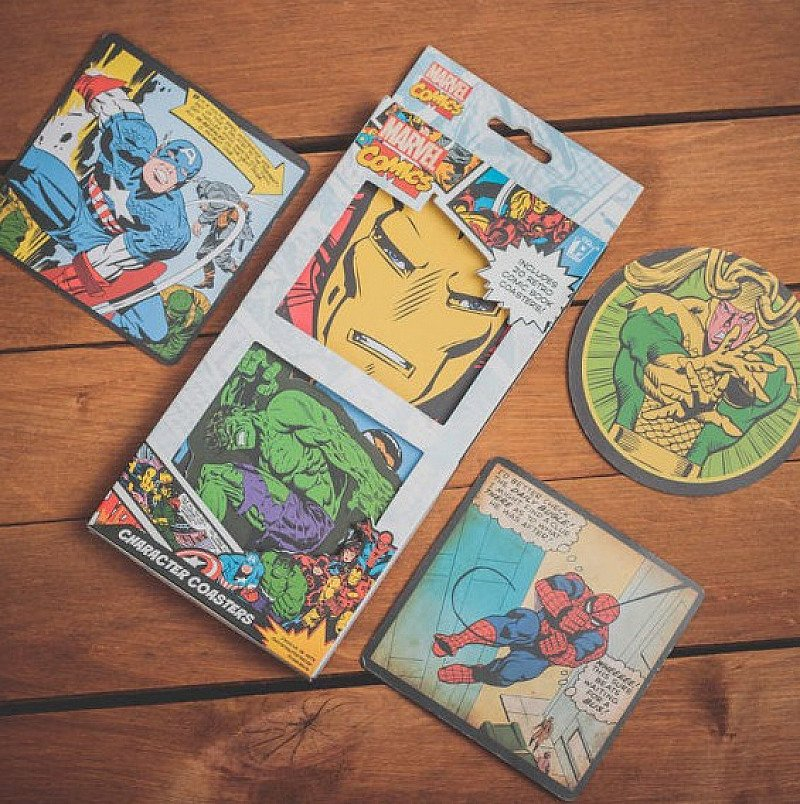 Perfect for Dad - 50% OFF - Marvel Comics Character Coasters!