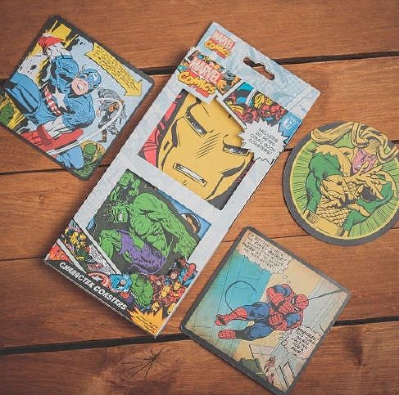 SAVE 50% off 20 Marvel Comics Character Coasters!