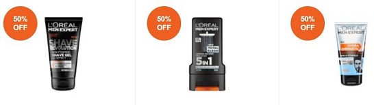SAVE up to 50% off L'oreal Men Expert!