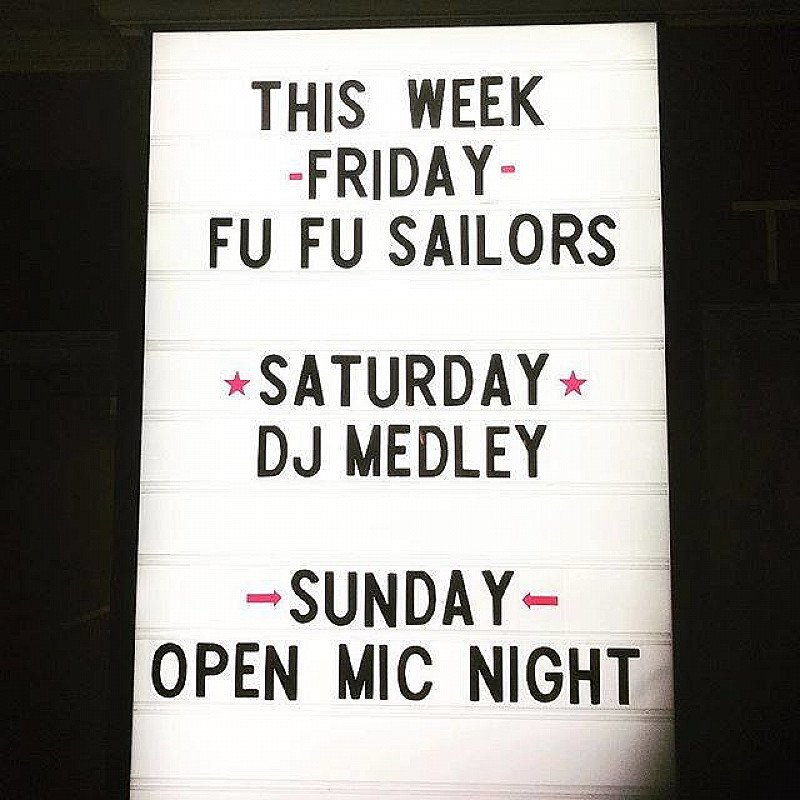 Roll on the weekend! We've got house favourite Fufu Sailors on Friday and DJ Medley for Saturday