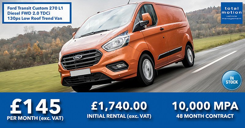 Ford Transit Custom Low Roof Trend Van | Business Leasing Offer