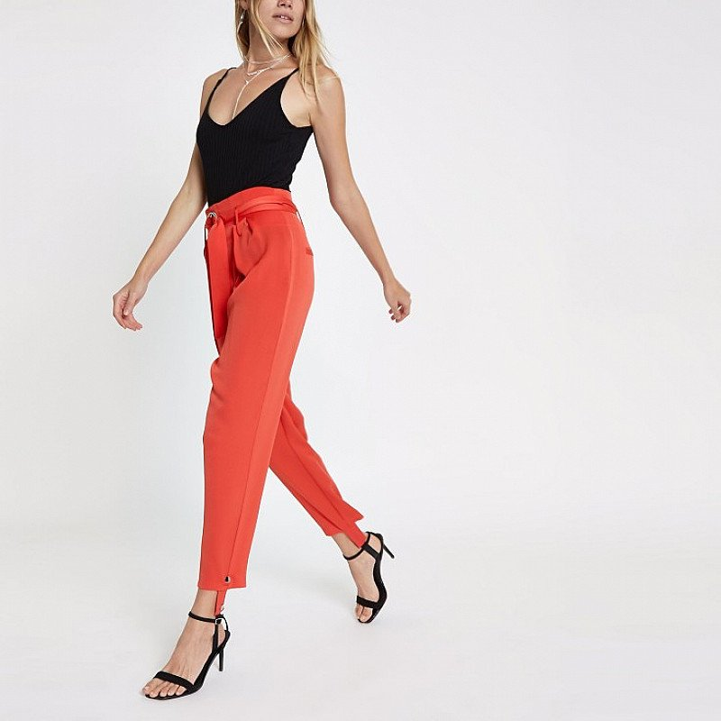 SAVE 50% OFF Red belted stirrup trousers!