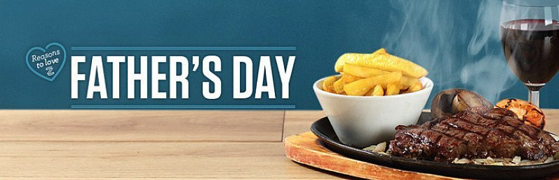 Make Father's Day extra special with a FREE MEAL at your local Sizzling Pub!