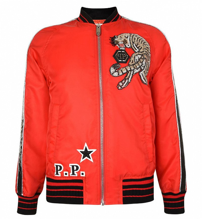 SAVE £995 on this PHILIPP PLEIN We Are One Bomber Jacket!