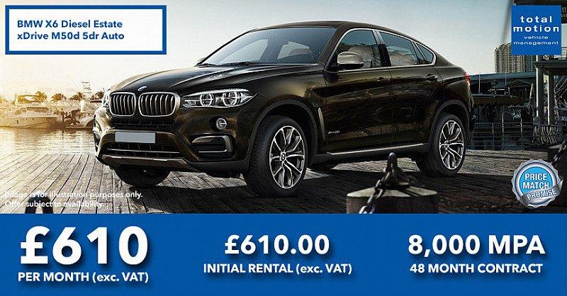 BMW X6 M50d   Low Deposit Leasing Offer