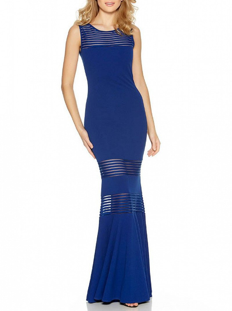 FINAL STOCK - Mesh Insert Fishtail Maxi Dress - LESS THAN 1/2 PRICE!