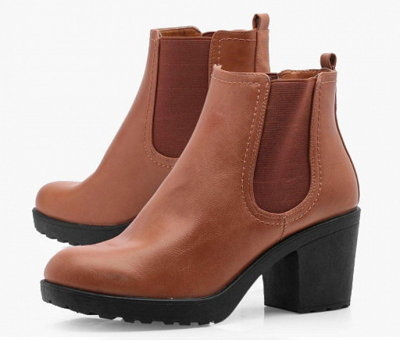 SAVE OVER 40% on these Chunky Cleated Heel Chelsea Boots!