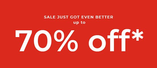 SAVE up to 70% in the House of Fraser SALE!