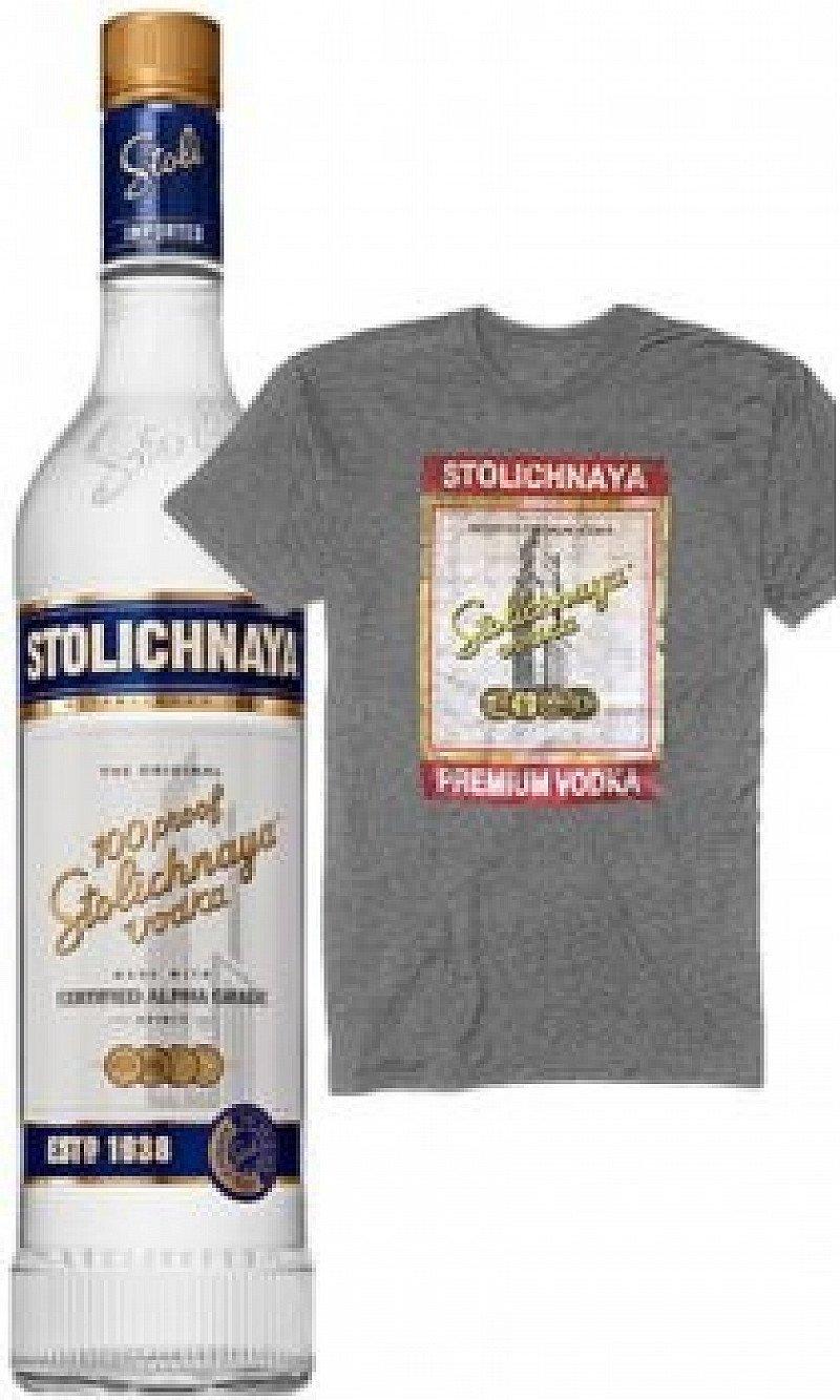 Stolichnaya - 100 Proof Premium vodka, Free T-Shirt With Every Bottle!