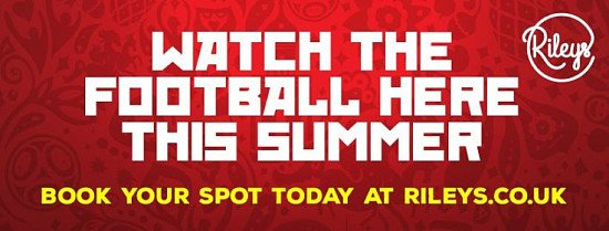 England v Belgium game on Thursday - come and watch it with us!