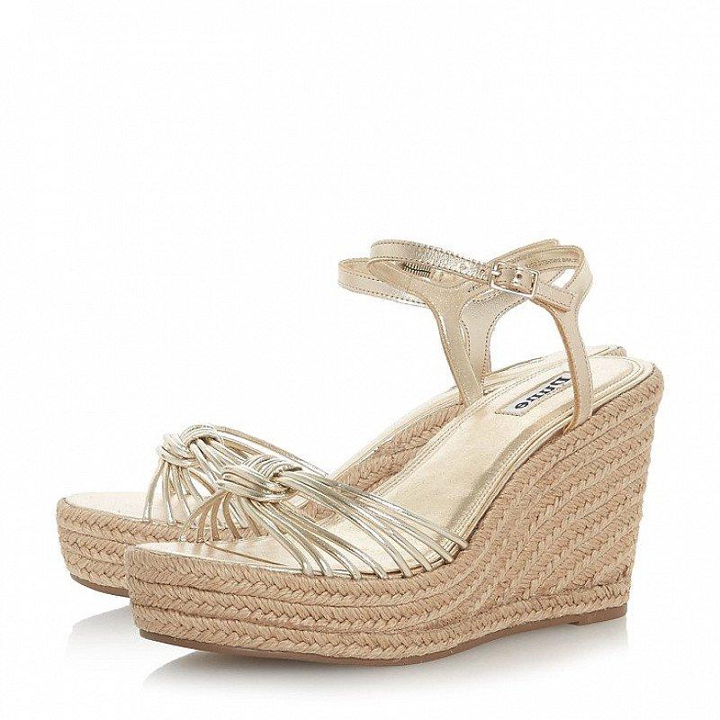 DUNE Kikii Knot Detail Wedge Sandals - LESS THAN 1/2 PRICE!