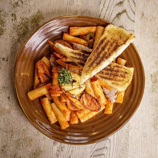 Try our Rigatoni Spicy Italian Pasta!