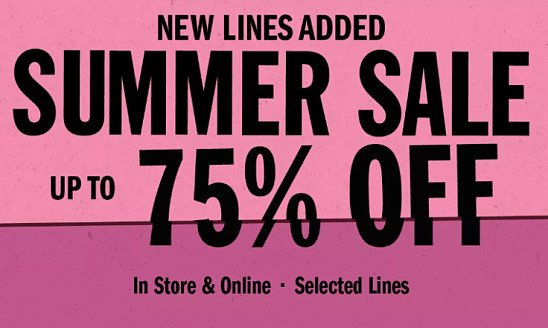 SAVE up to 75% in the Summer Sale!