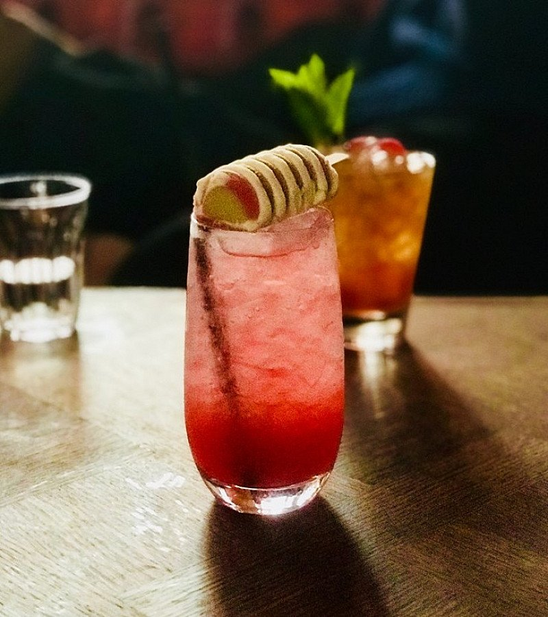 "Stunning shot of our illustrious ""Twister"" cocktail!"