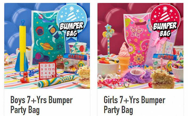 Fantastic Bumper Party Bags available from ONLY £4!