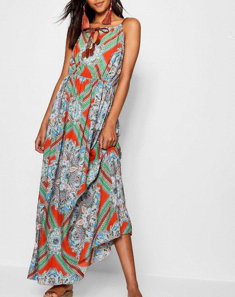 SAVE 25% on this Plait Detail Paisley Print Maxi Dress!
