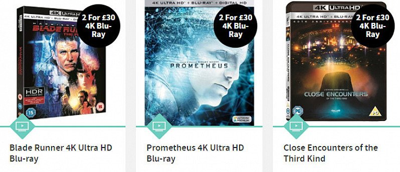 4K Ultra HD Blu-rays - 2 for £30 - SAVE 25%!