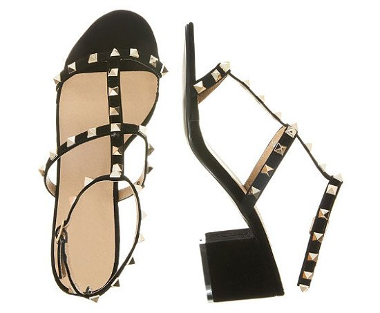 Stud Block Heel Sandals - SAVE 1/3!
