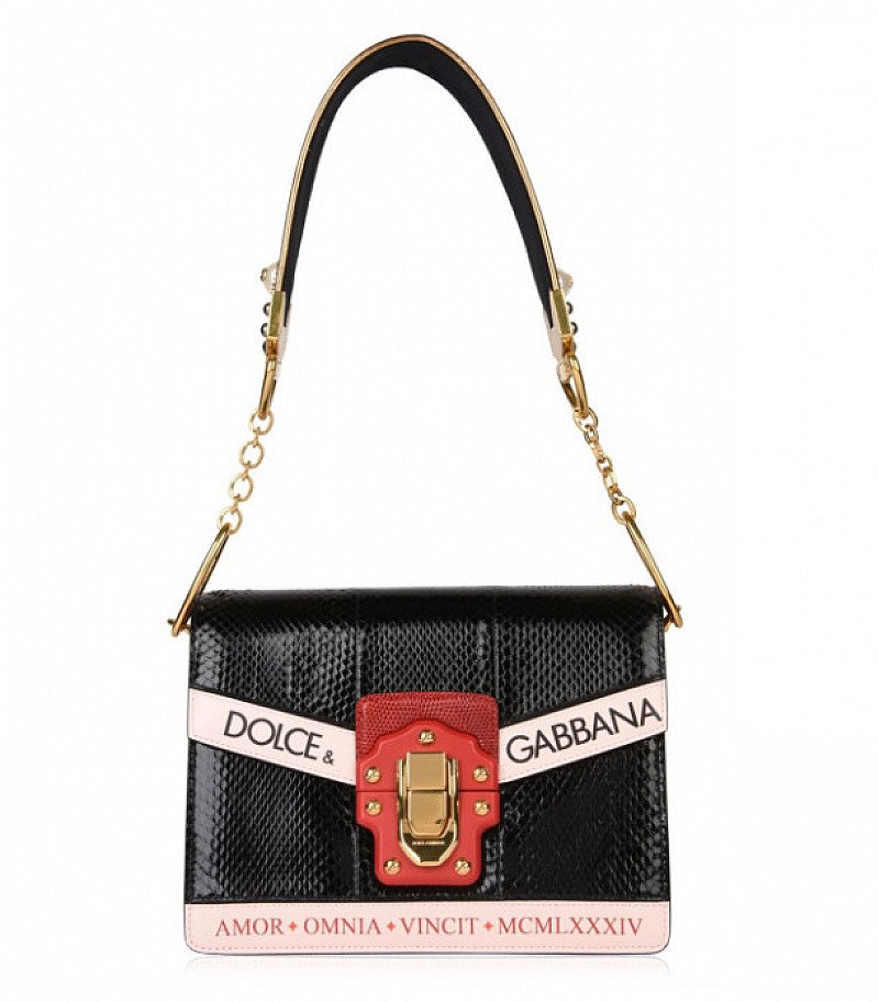 £900 OFF - DOLCE AND GABBANA Amore Iguana Bag - SAVE 30%!
