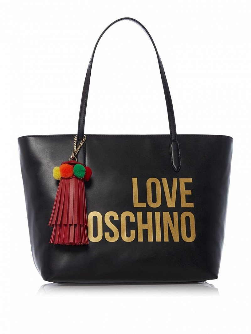 LESS THAN 1/2 PRICE - LOVE MOSCHINO Logo And Tassel Large Tote!