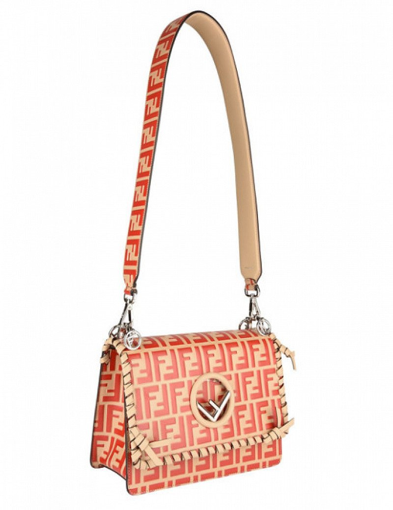 SAVE £790 on this FENDI Kan I Nappa Threading Shoulder Bag!