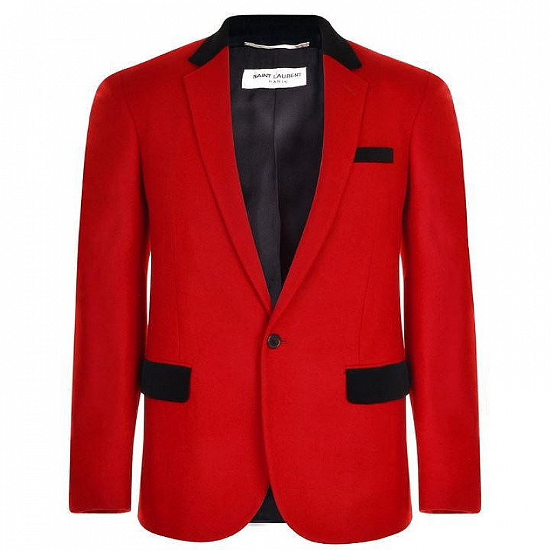 SAVE £927 on this SAINT LAURENT Velvet Trim Blazer!