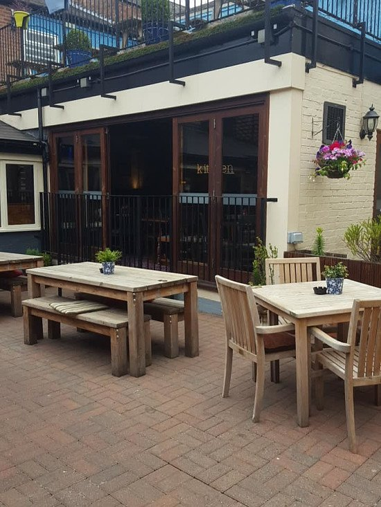 We have a wonderful vibrant beer garden for these perfect summer days!