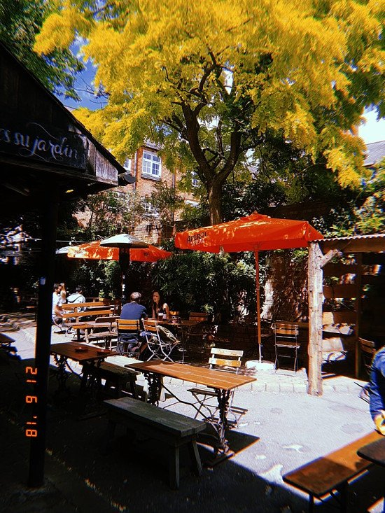 BIT WARM INIT?  come grab some shade and maybe a light bite!