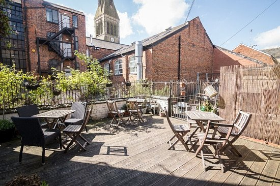 Did you know? We have a wonderful suntrap of a roof terrace!