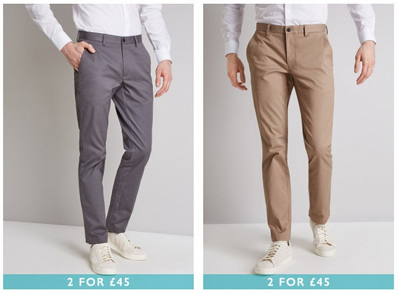 2 FOR £45 CHINOS
