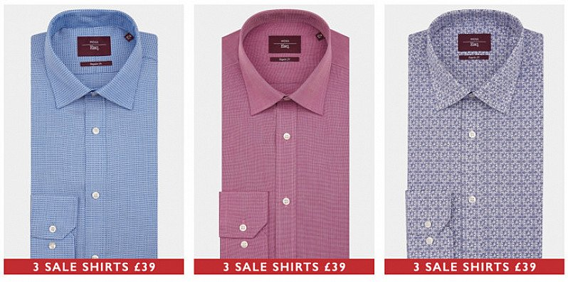 3 SALE SHIRTS FOR £39