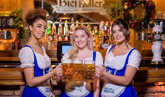 THE FINEST GERMAN BIER'S SERVED ICE COLD IN STEINS!