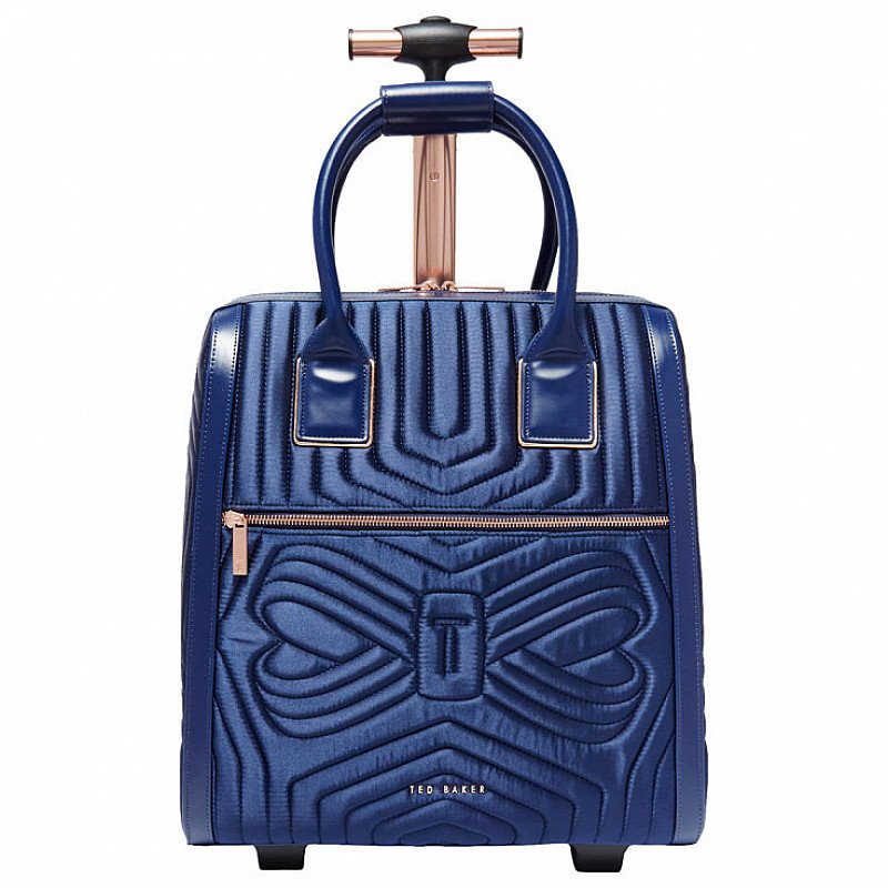 SAVE 40% OFF Ted Baker Anisee Quilted Bow Travel Bag, Navy!