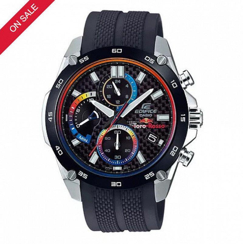 HALF PRICE - Casio Edifice Men's Scuderia Toro Rosso Black Strap Watch!