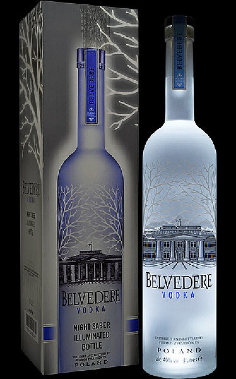 SAVE 5% on Belvedere Vodka - Pure Illuminating Bottle!