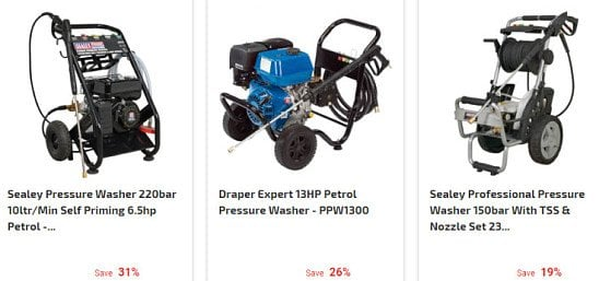 SAVE up to 40% on Pressure Washers & Accessories!
