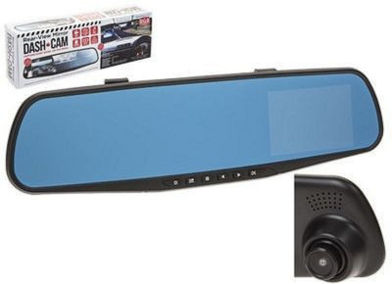 SAVE OVER 60% on this Rear-View Mirror Dash Camera!
