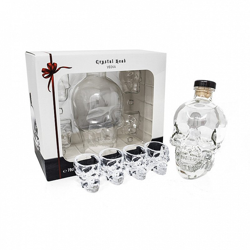 Crystal Head Vodka - Gift Pack With Shot Glasses - SAVE 13%!