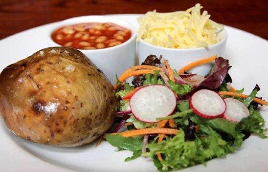 Jacket potato's served 11 - 2.30 every day!