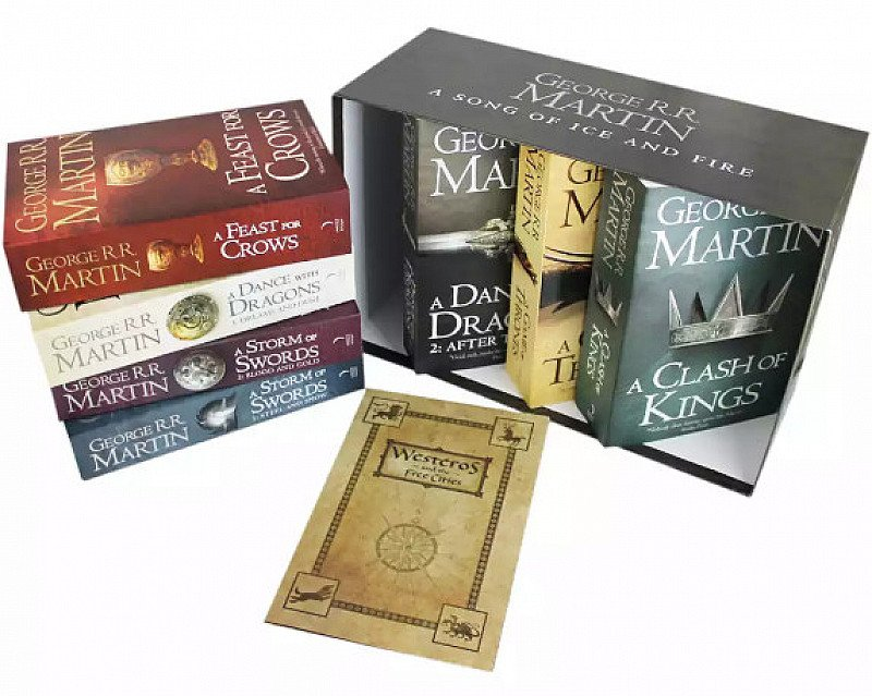 SAVE 54% on Song Of Ice And Fire - Game Of Thrones - 7 Book Box Set + FREE Map!