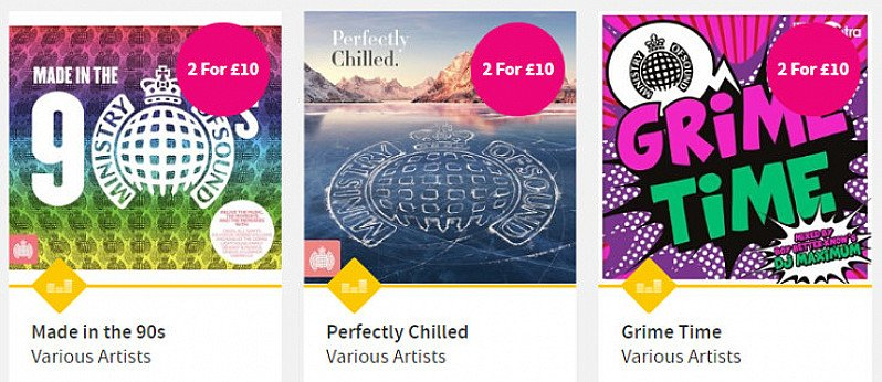 Ministry of Sound: CDs 2 for £10 - SAVE 17%