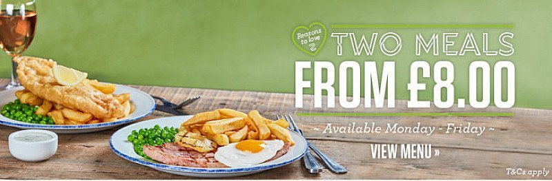 Lunch at Sizzlers, and get 2 Meals from ONLY £8!