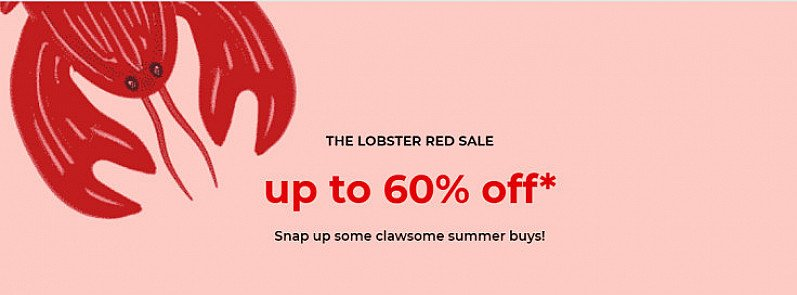 Up to 60% OFF in the Red Lobster SALE!