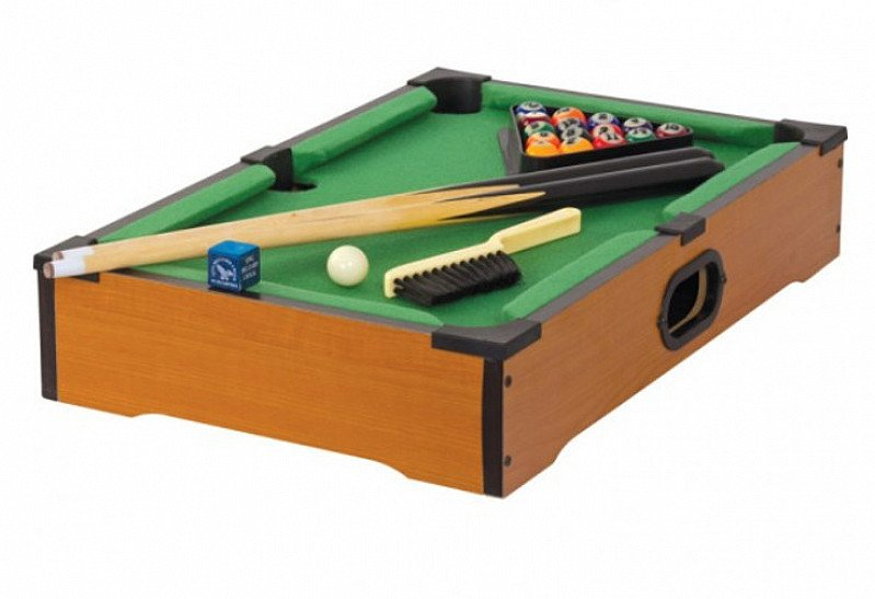 SAVE 20% on this Wooden Tabletop Pool Set!