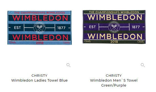 OVER 10% OFF these Wimbledon Towels!
