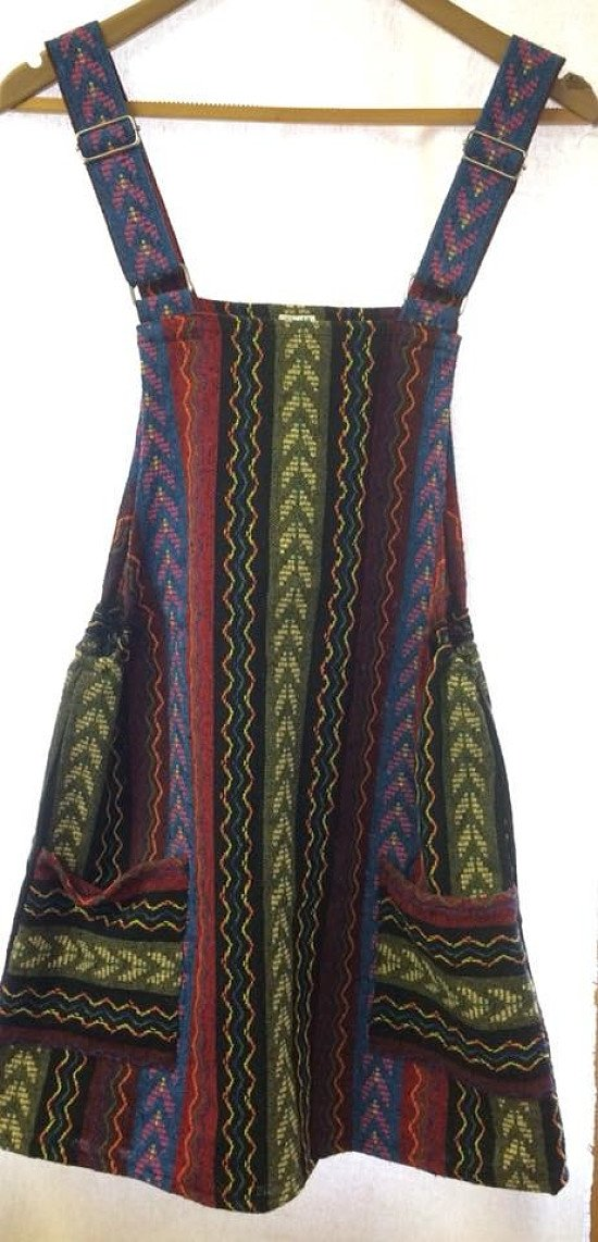 Back in stock - Thai woven dungaree dress £29.99!
