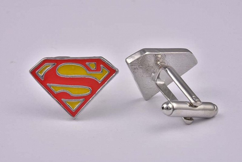 Superman Red & Yellow Cufflinks - Now Only £16.99